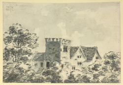 [View of the remains of Bentley Hall]